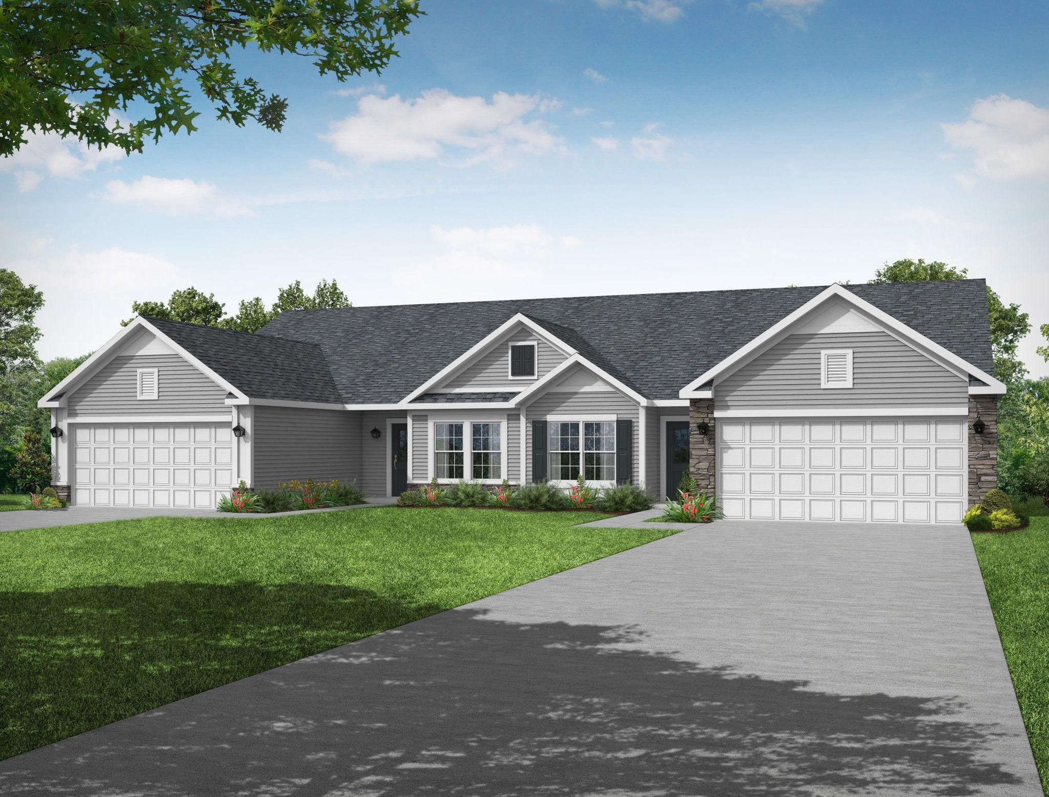 Exterior featured in the Laine By Olthof Homes in Indianapolis, IN