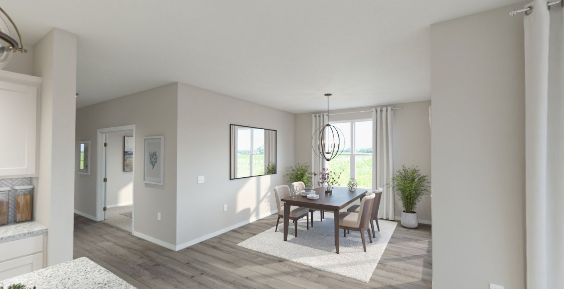 Living Area featured in the Harmony By Olthof Homes in Gary, IN