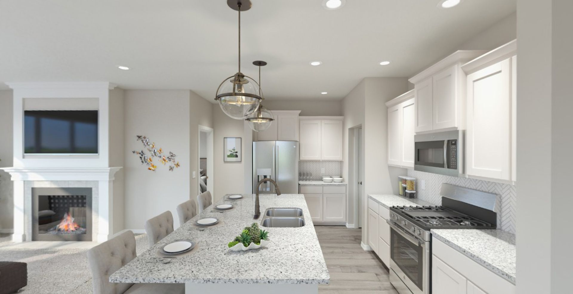 Kitchen featured in the Harmony By Olthof Homes in Gary, IN