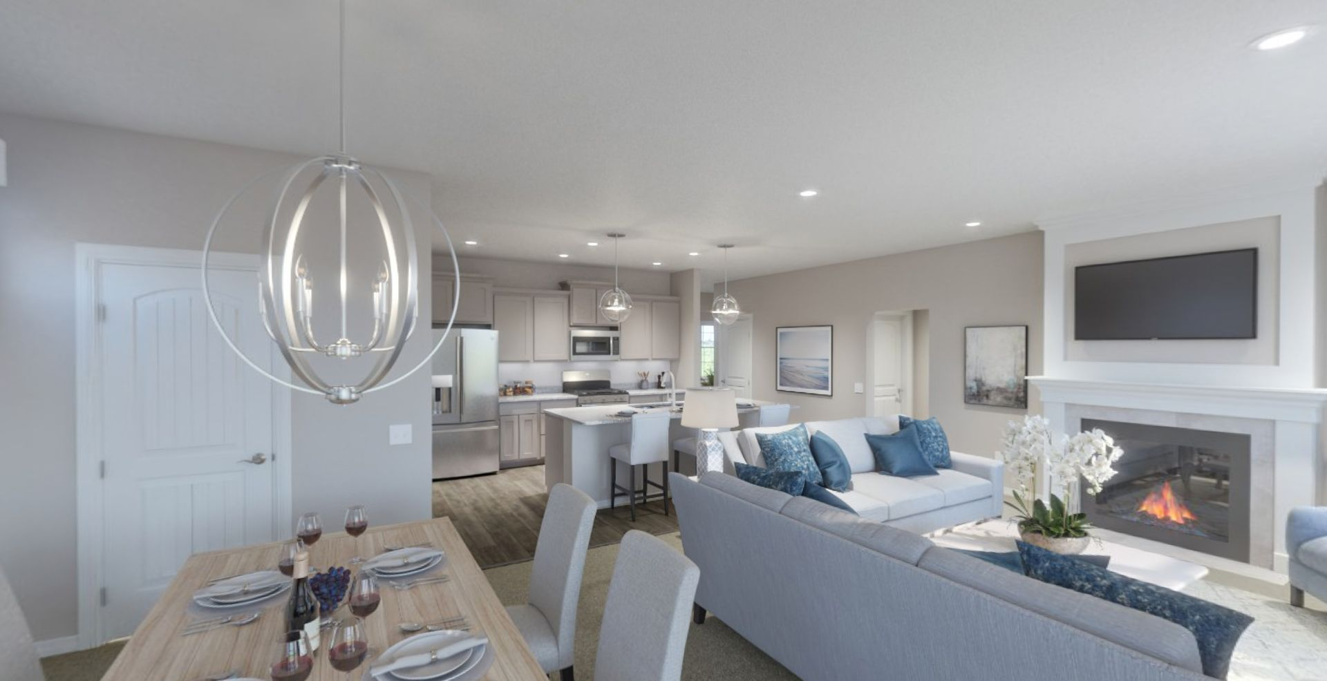 Living Area featured in the Adagio By Olthof Homes in Indianapolis, IN