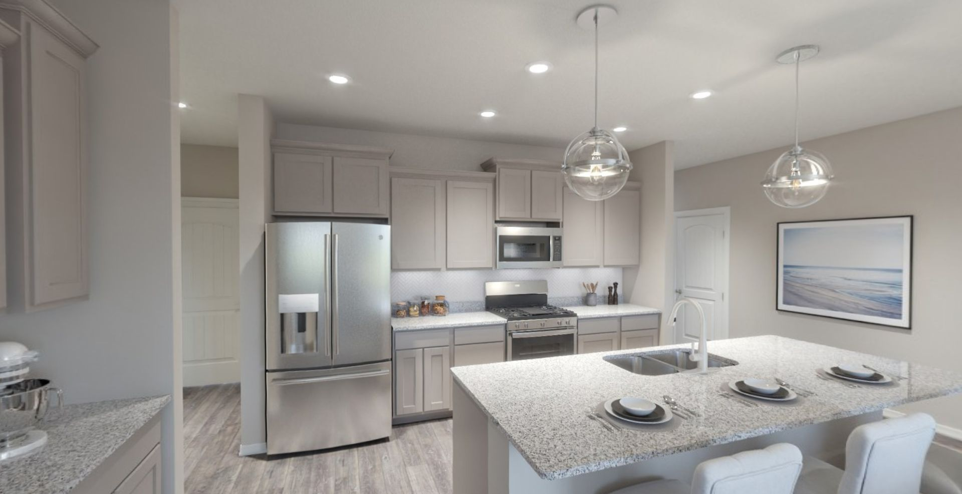 Kitchen featured in the Adagio By Olthof Homes in Indianapolis, IN