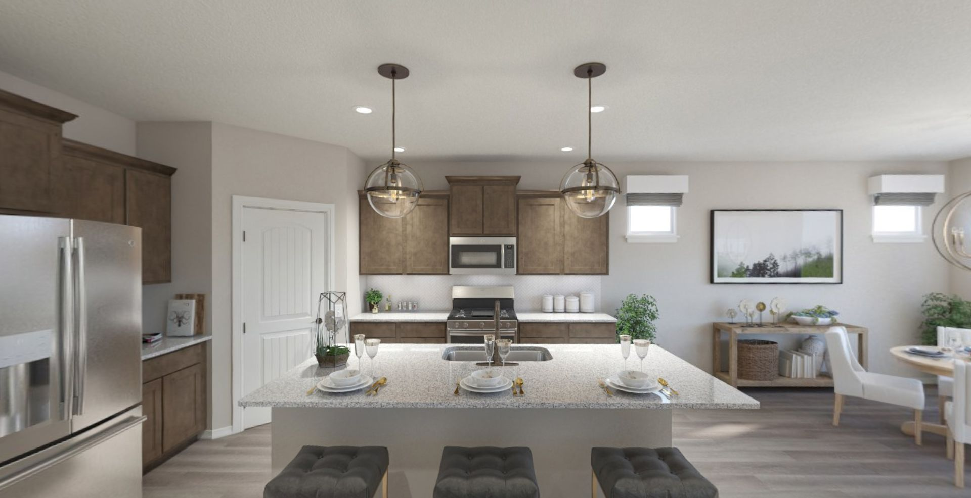 Kitchen featured in the Cadenza By Olthof Homes in Indianapolis, IN
