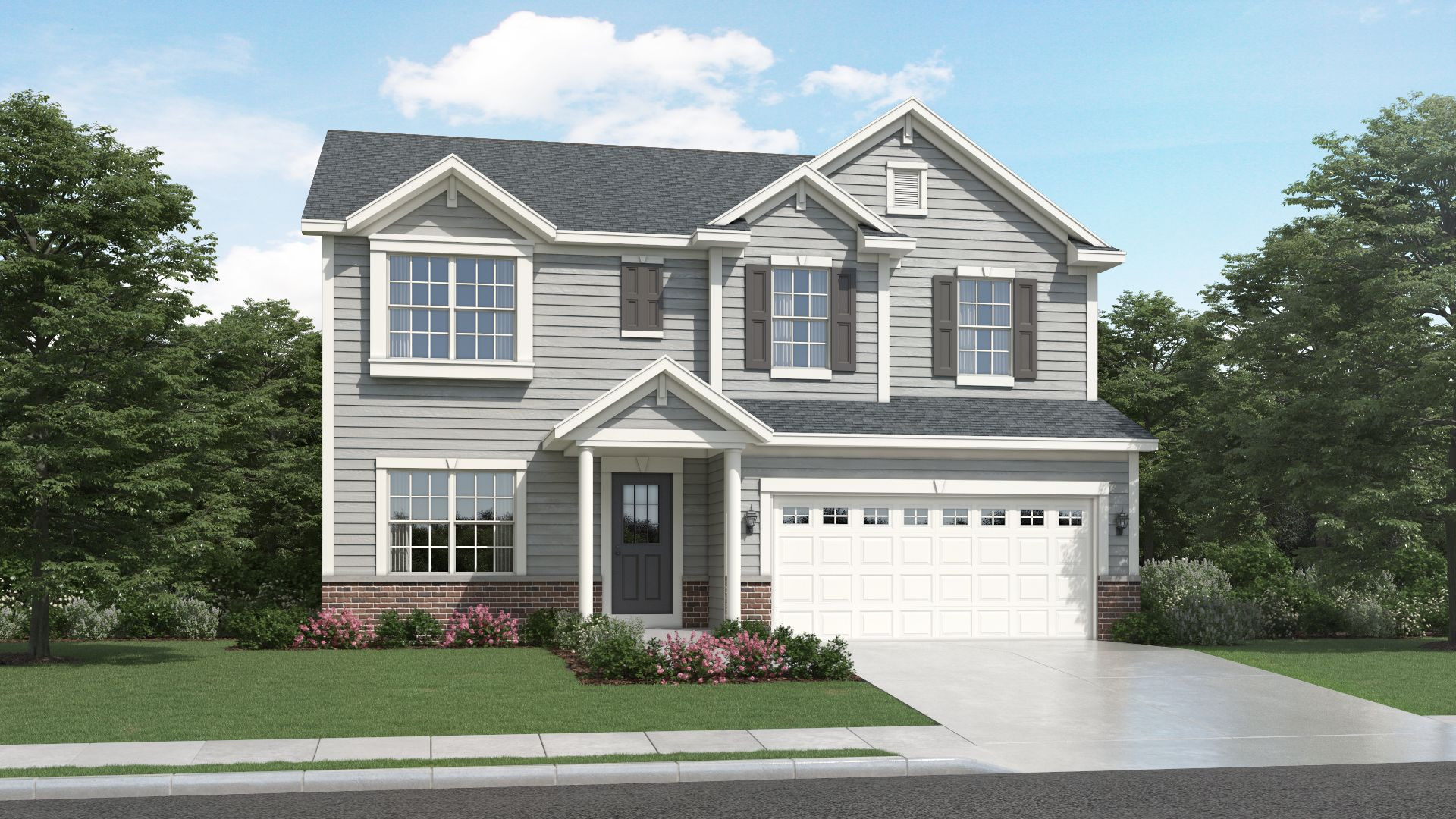 Exterior featured in the Linden By Olthof Homes in Indianapolis, IN