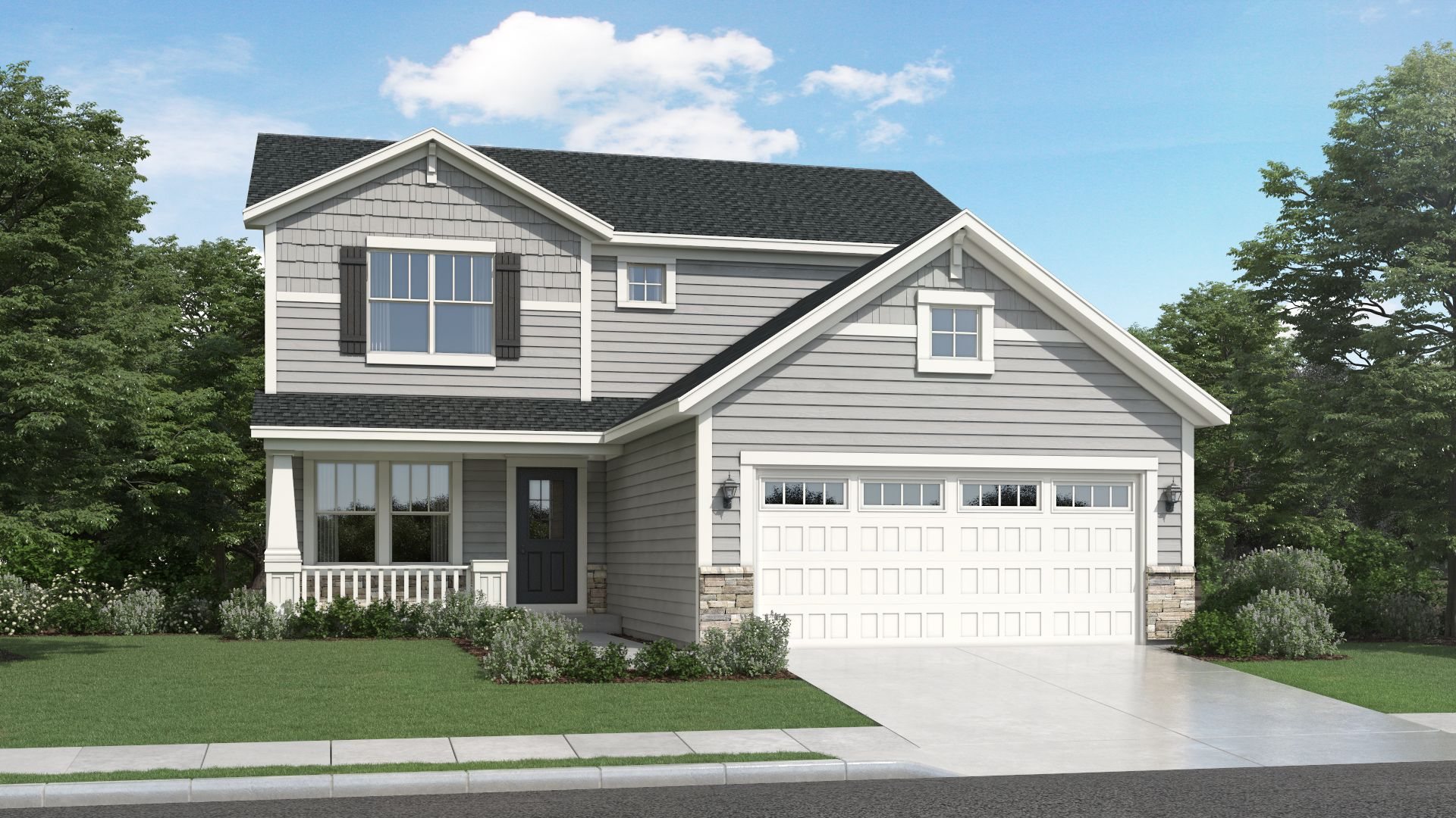 Exterior featured in the Kipling By Olthof Homes in Gary, IN
