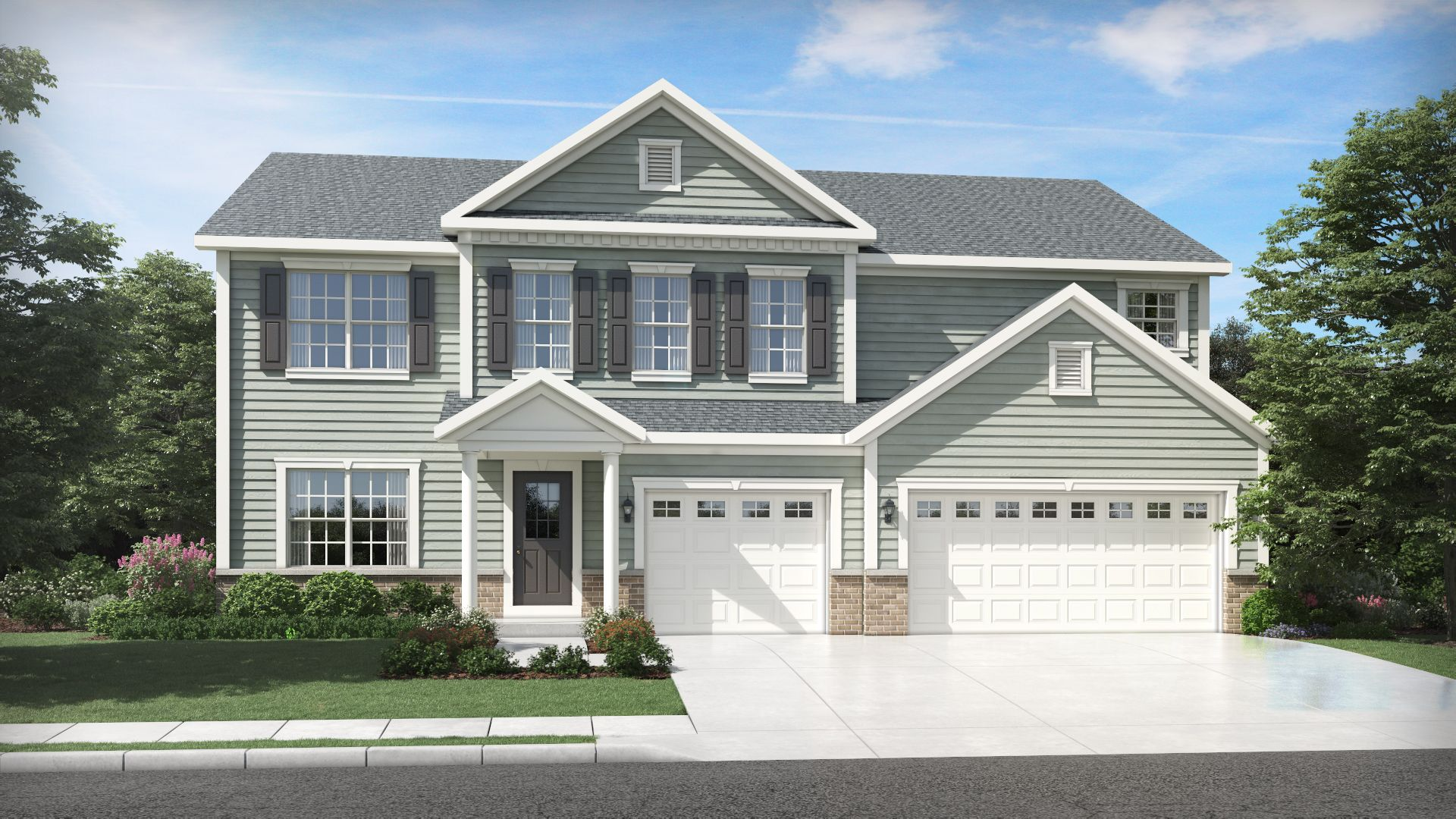 Exterior featured in the Willow By Olthof Homes in Gary, IN