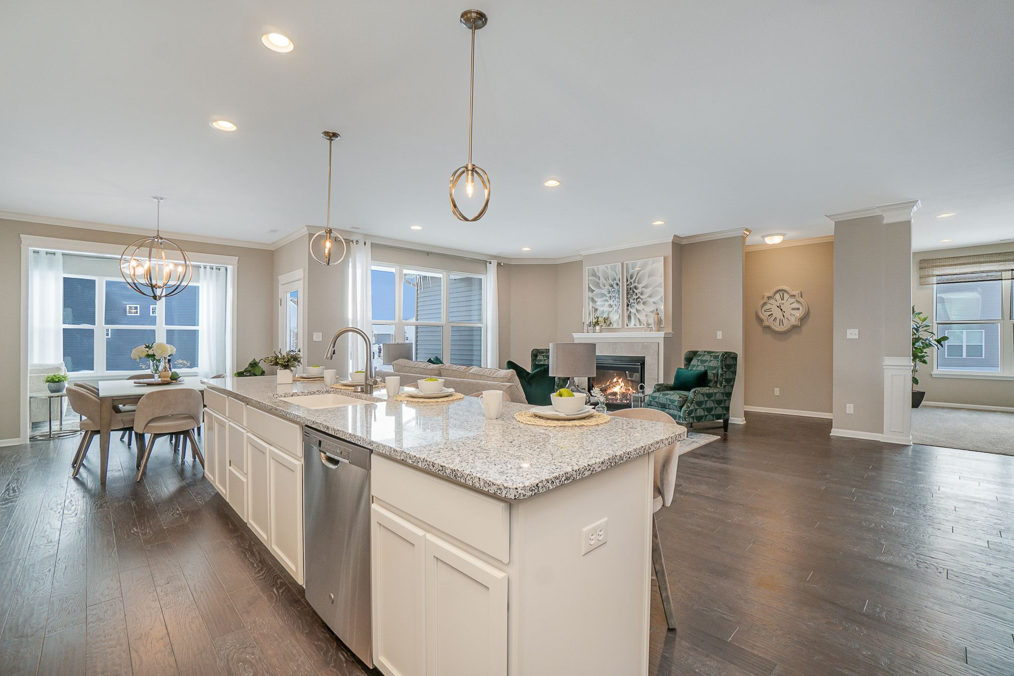 Kitchen featured in the Nottingham By Olthof Homes in Gary, IN
