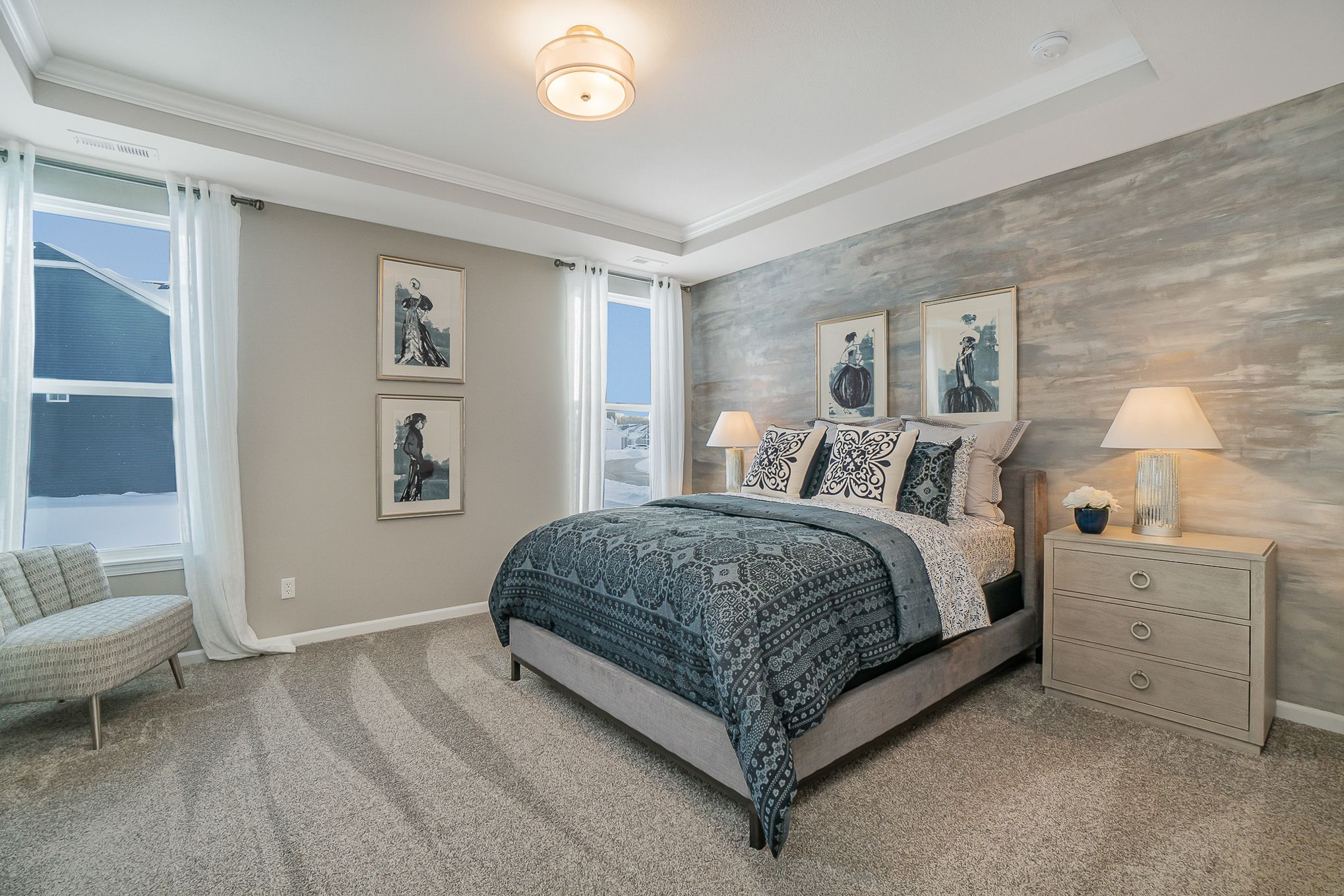 Bedroom featured in the Nottingham By Olthof Homes in Gary, IN