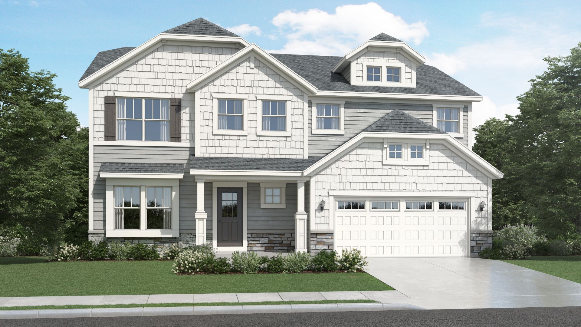 Exterior featured in the Savannah By Olthof Homes in Indianapolis, IN