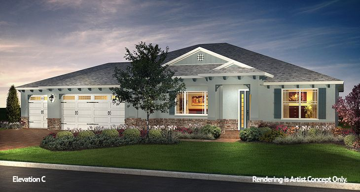 Brighton Elevation:Energy Efficient Model Home at On Top of the World Gated Retirement Community in Ocala, Florida
