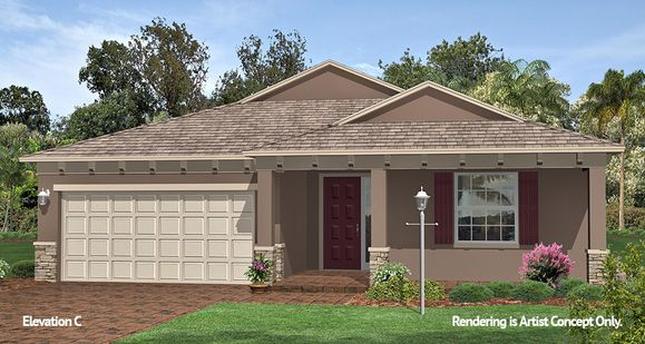 Ginger Elevation:Energy Efficient Floor plan at 55+ Active Adult Retirement Community in Florida