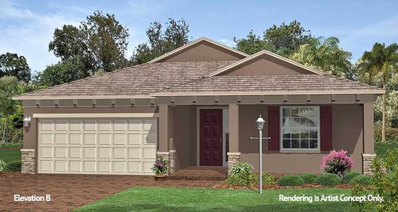 Juliana Elevation:Spacious Energy Efficient Floor Plan at 55+ Retirement Community in Florida - On Top of the World