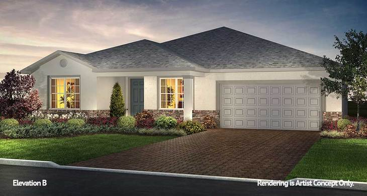 Ariana Elevation:Energy Efficient Floor plan at the Premier Retirement Community in Ocala, Florida - On Top of the World
