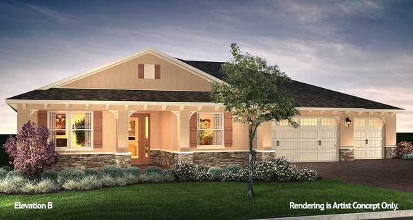 Arlington Elevation:Innovative Model Home at On Top of the World Active Adult Retirement Community in Florida