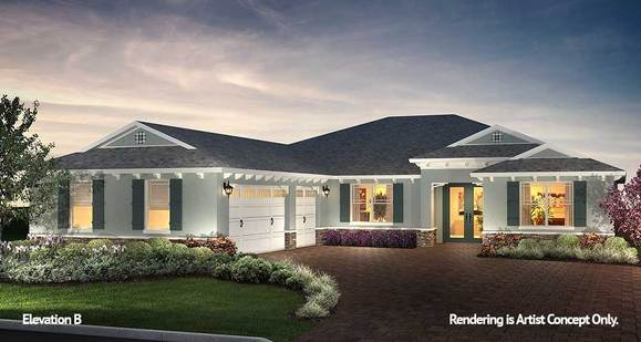 Northampton Elevation:Spacious Model Home at On Top of the World Active Adult Community in Ocala, Florida