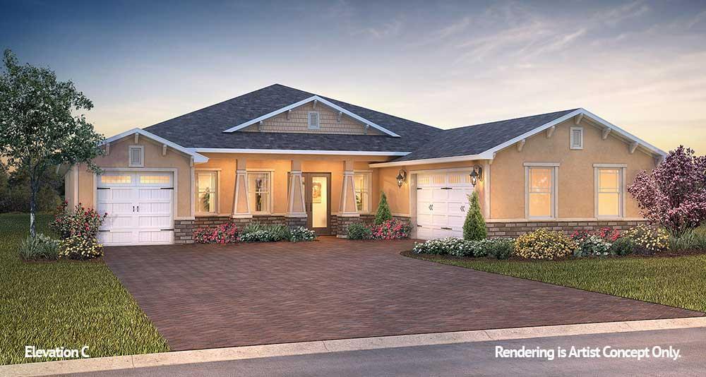 Exterior featured in the Candler Hills - Aberdeen By Colen Built Development, LLC in Ocala, FL