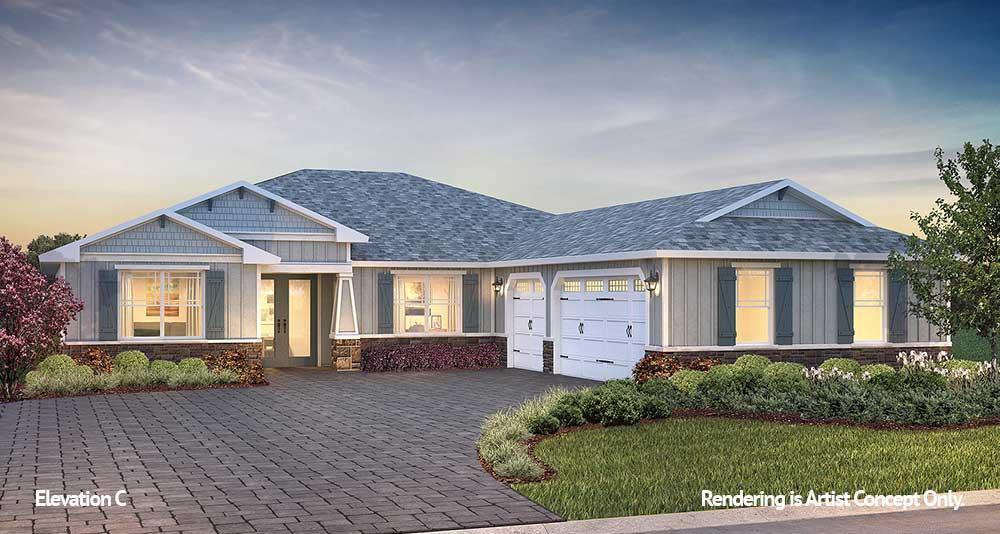 Exterior featured in the Candler Hills - Northampton By Colen Built Development, LLC in Ocala, FL