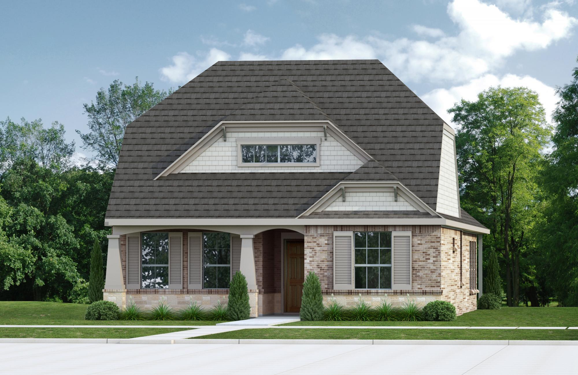 Exterior featured in the Naples   Villa By Our Country Homes  in Fort Worth, TX