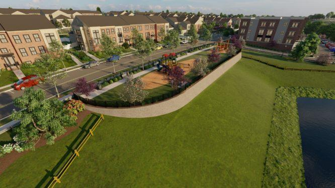 'Montgomery Crossing' by Sharbell Development Corp. in Somerset County
