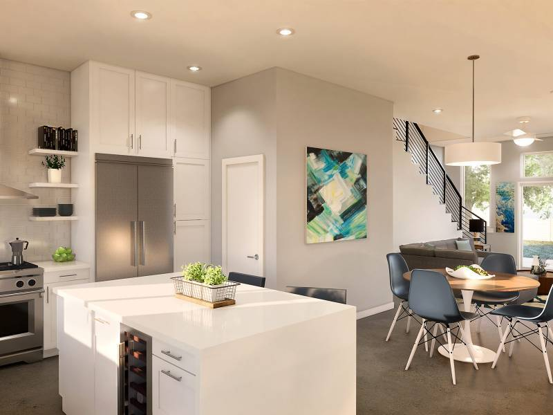 Kitchen featured in the TH-A1 By StoryBuilt in Austin, TX