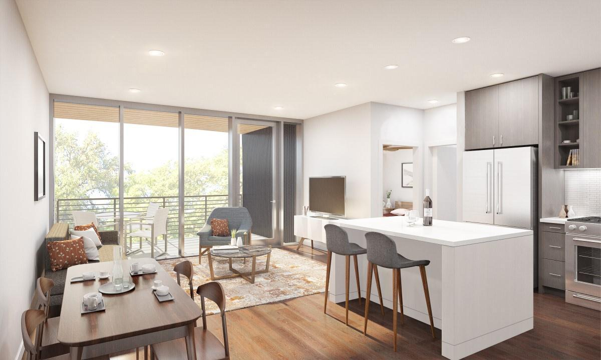 Living Area featured in the Residence C2 By StoryBuilt in Austin, TX