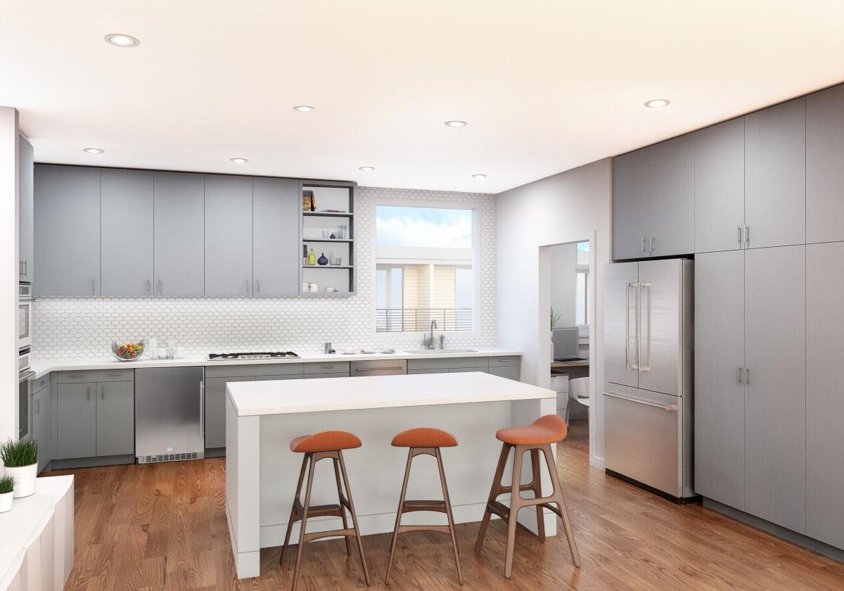 Kitchen featured in the Residence C2 By StoryBuilt in Austin, TX