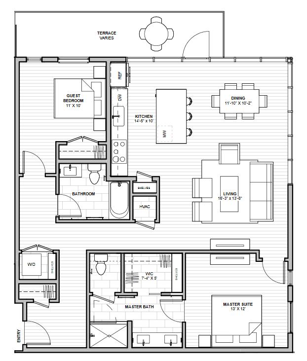 1600 S 1ST STREET (Residence 2E)