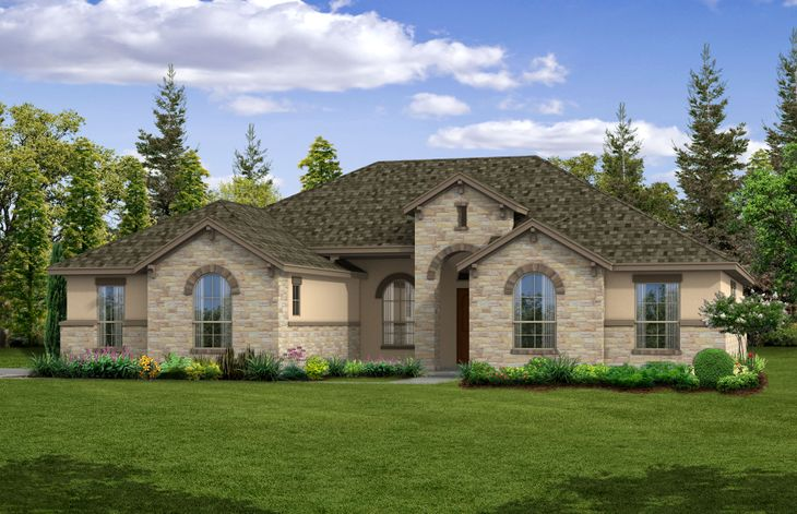 Bluebell - Front Exterior:Side Entry Garage - Elevation A