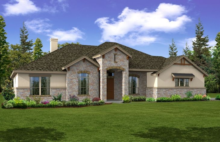 Bluebonnet - Front Exterior - Elevation A:Gorgeous One Story Ranch