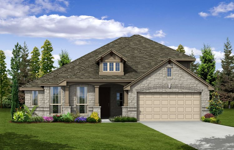 Exterior featured in the Pacesetter - Maybeck II By Pacesetter Homes in Austin, TX