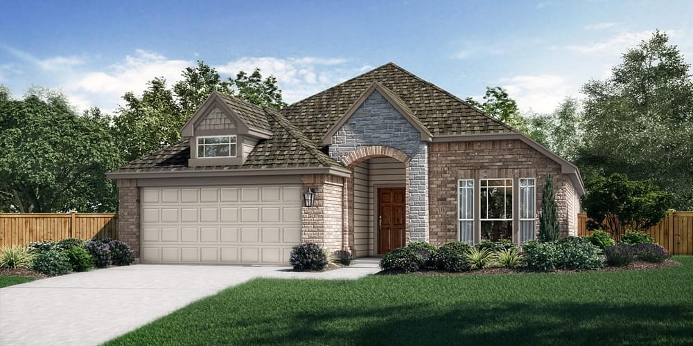 Exterior featured in The Denton By Pacesetter Homes Texas in Dallas, TX