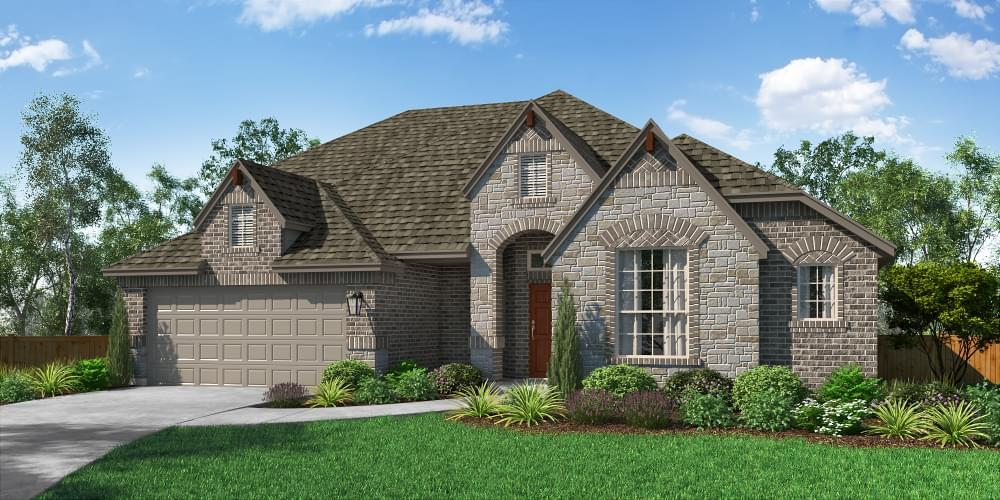 Exterior featured in The Fairview II By Pacesetter Homes Texas in Dallas, TX