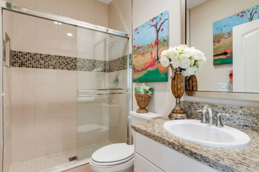 Bathroom featured in the Plan 5 Model Available By Pacific Communities