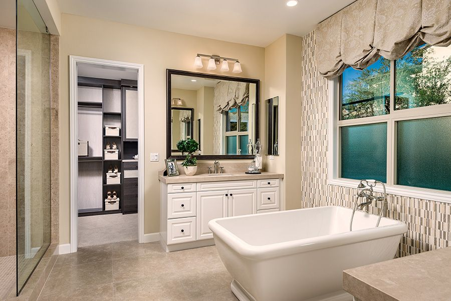 Bathroom featured in the Residence 1 By Baldwin & Sons in Orange County, CA