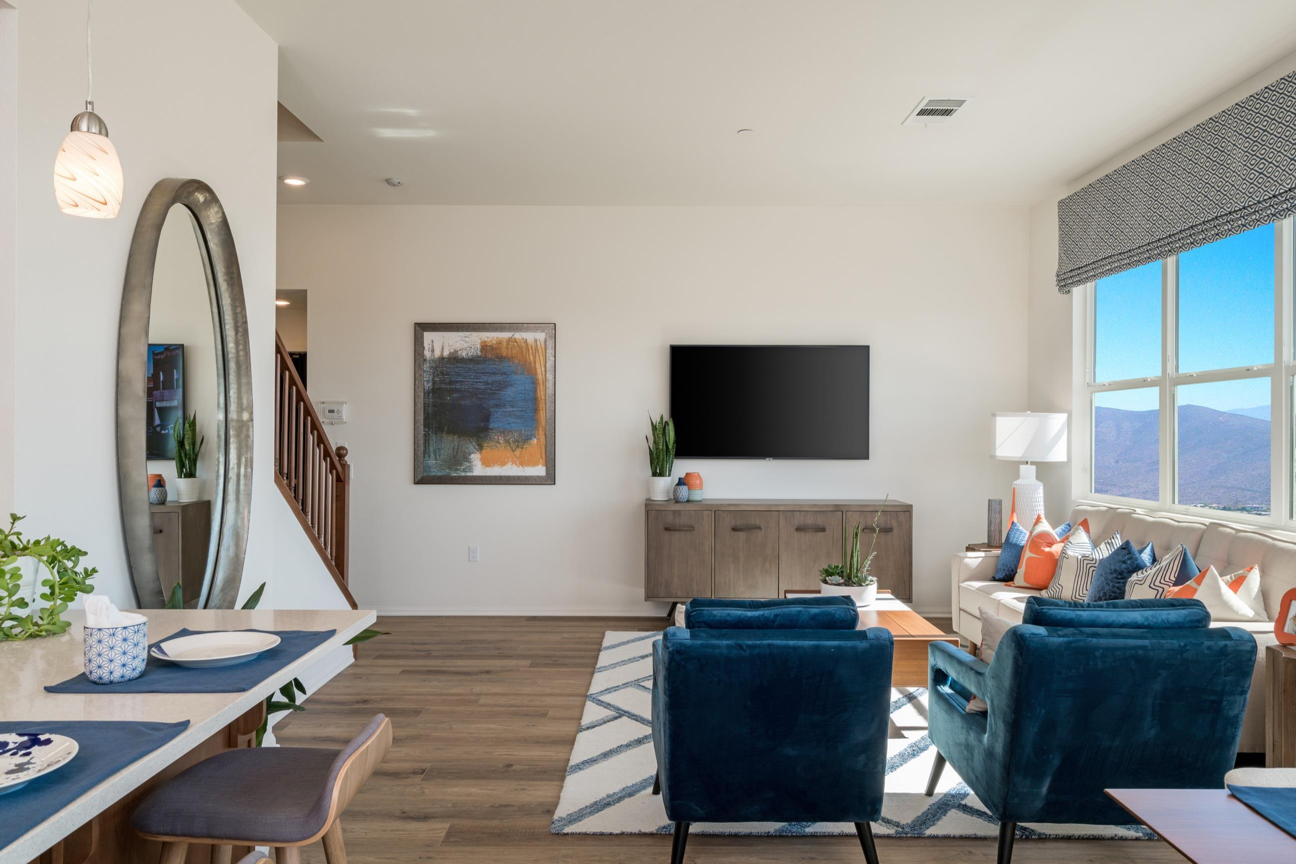 Living Area featured in the Plan 3 By Heritage Building & Dev't in San Diego, CA