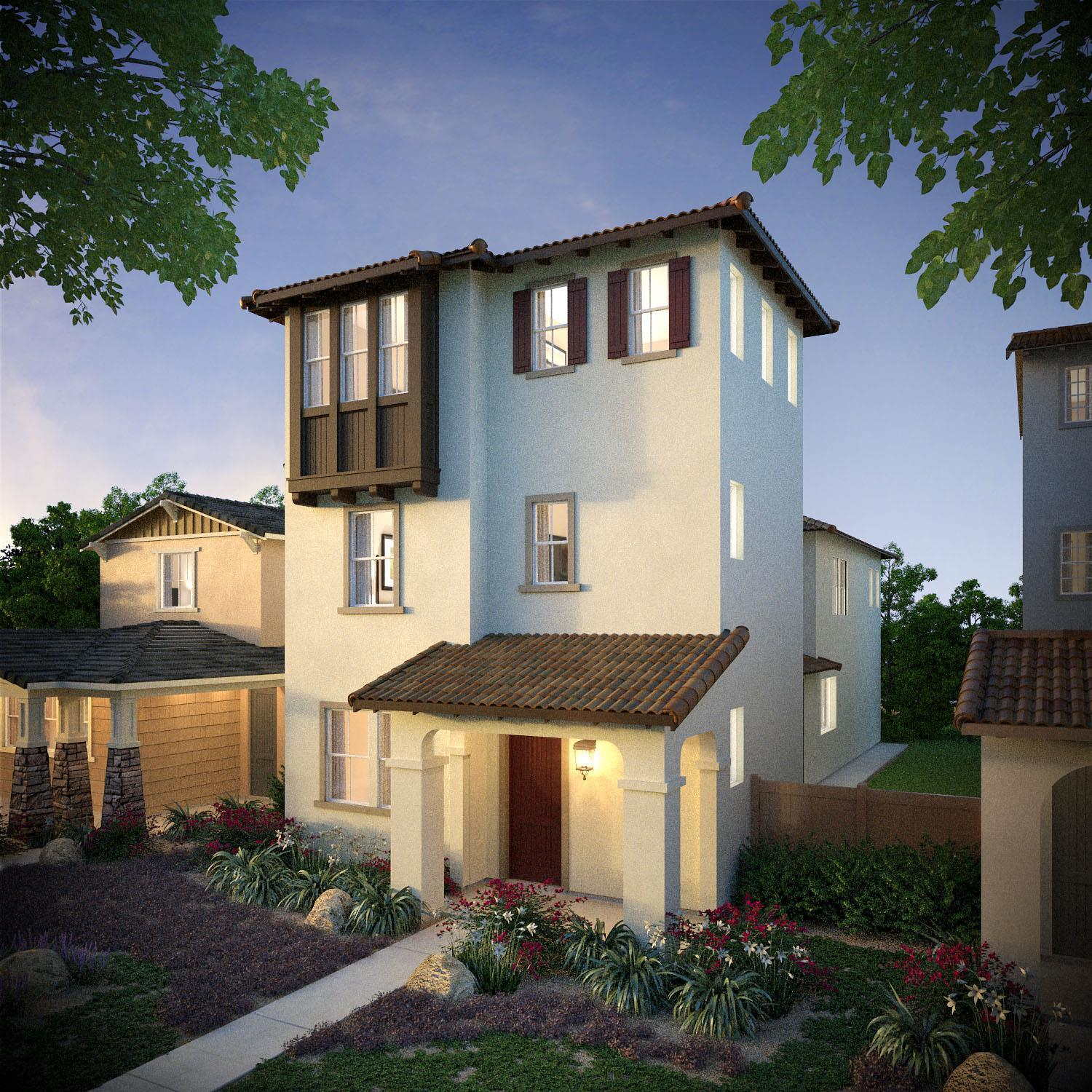 Exterior featured in the Monte Villa Residence 2 By Pacific Coast Communities in San Diego, CA