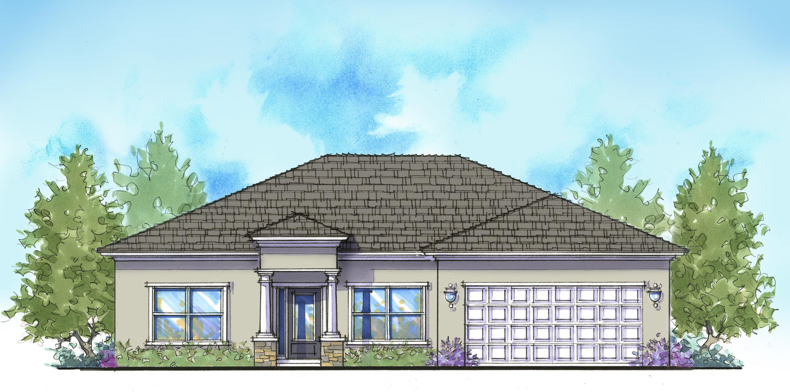 Exterior featured in the Villa Vincenzo By Palladio Homes in Ocala, FL