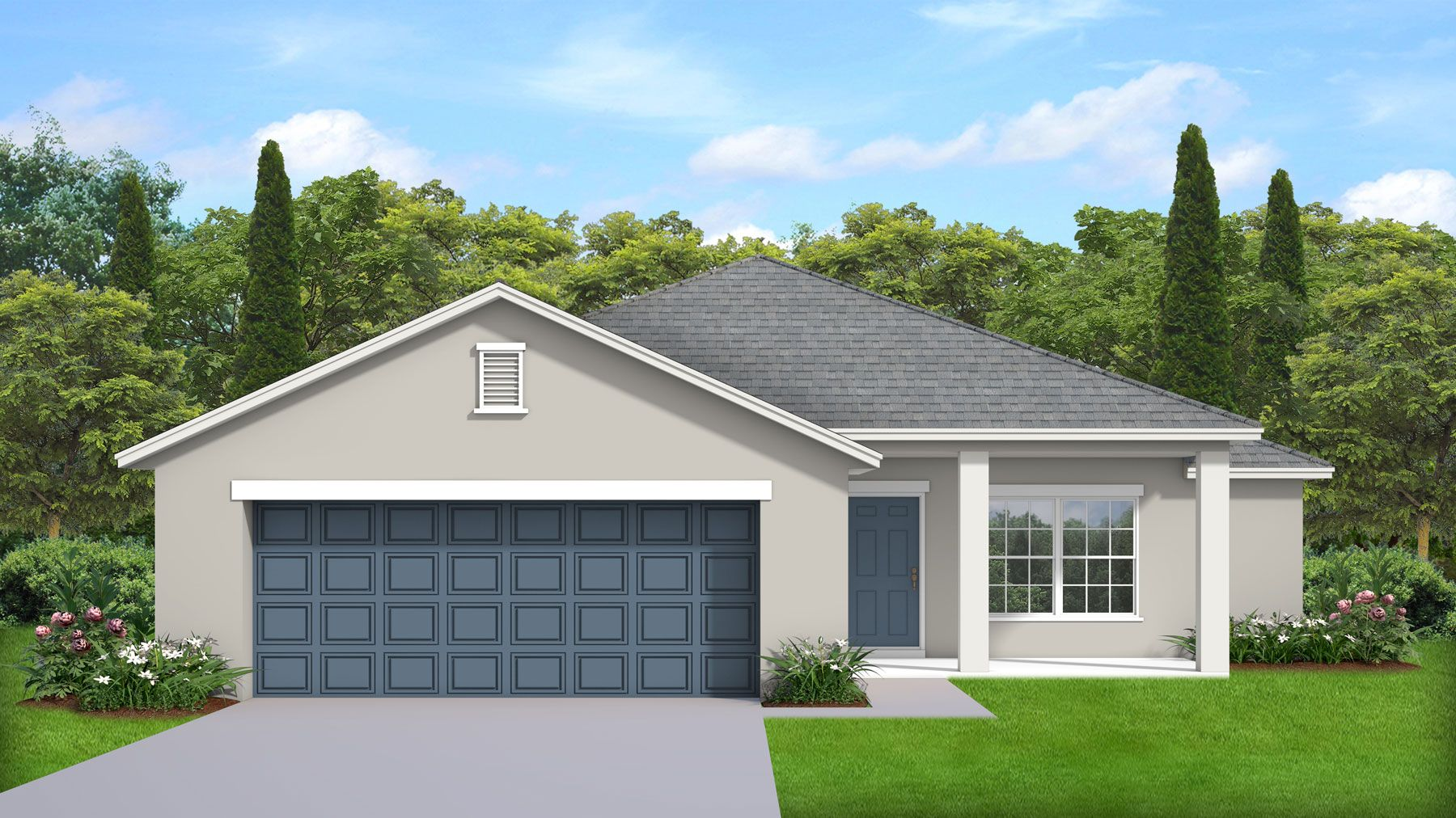 Exterior featured in the Millennial X By Palladio Homes in Melbourne, FL