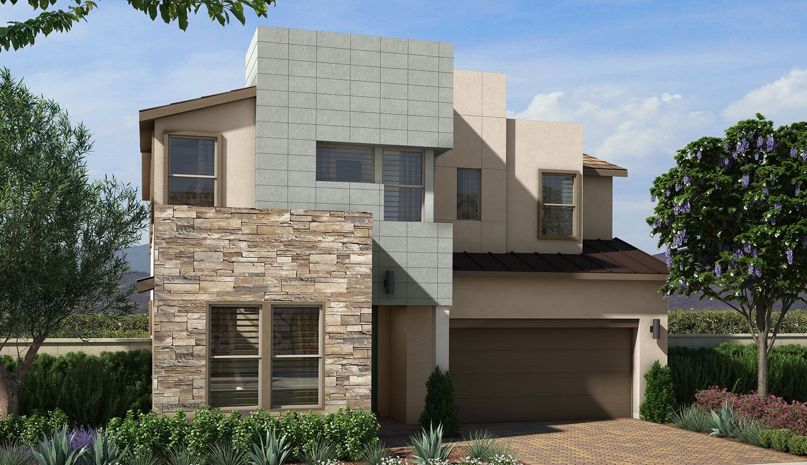 Exterior featured in the Plan 3 By Pardee Homes in Las Vegas, NV
