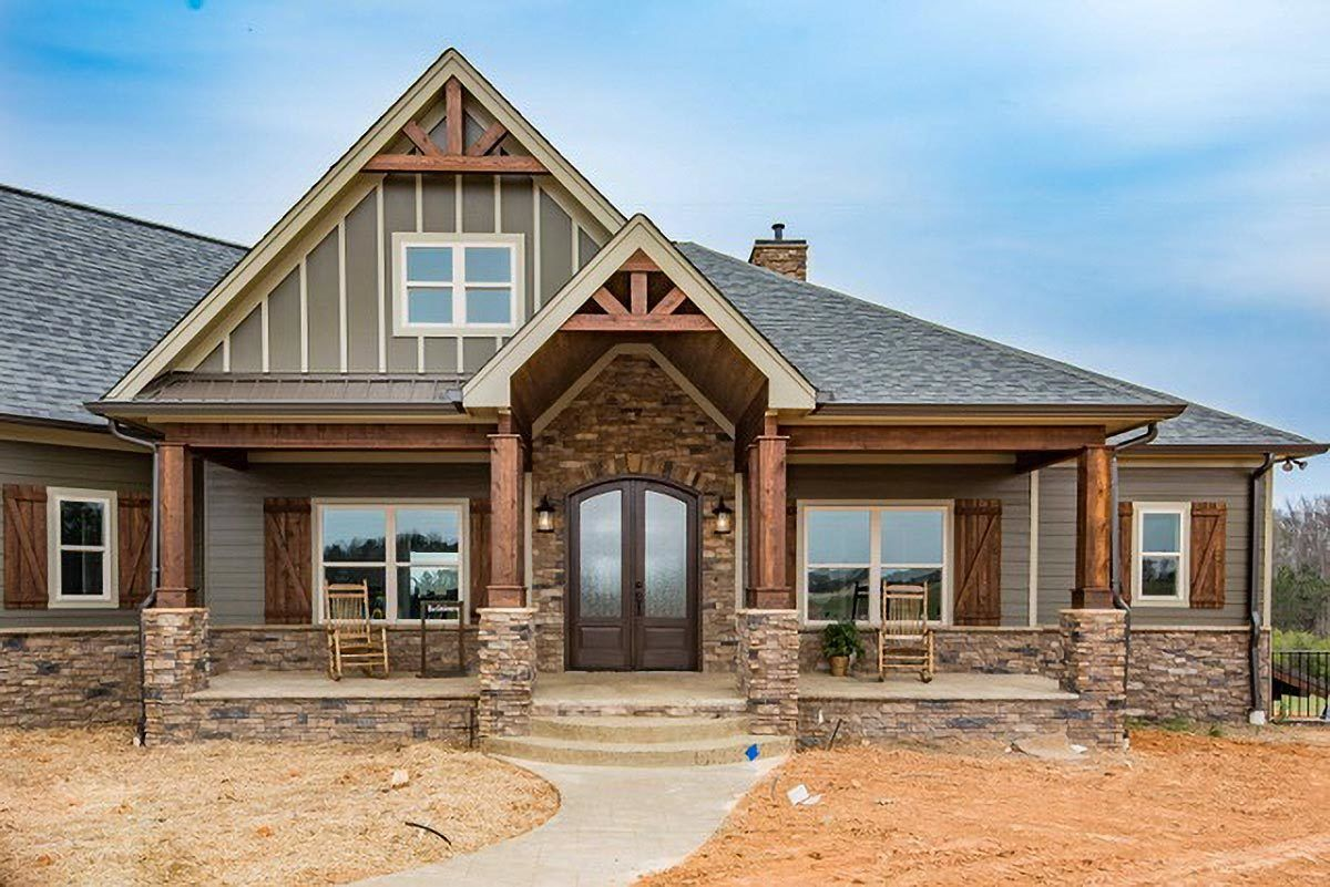 Exterior featured in the Craftsman By Parker Rose Custom Homes in Morgantown, WV