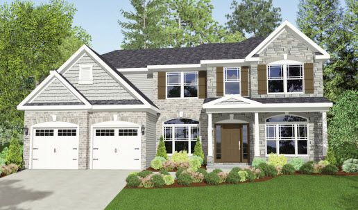 Exterior featured in The Bexley By Parkview Custom Homes  in Cleveland, OH