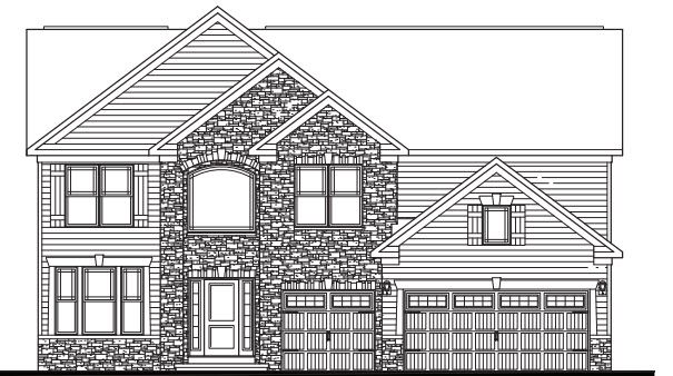 Exterior featured in the Mahogony II By Parkview Custom Homes  in Cleveland, OH