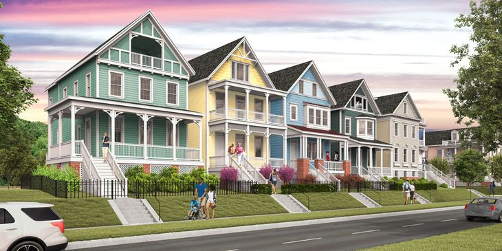 Painted Ladies Streetscape Rendering
