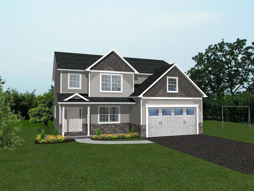 Exterior featured in The Dayton By Parry Custom Homes in Pittsburgh, PA