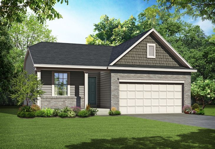 Carefree Palmer:Elevation C with Optional Dormers