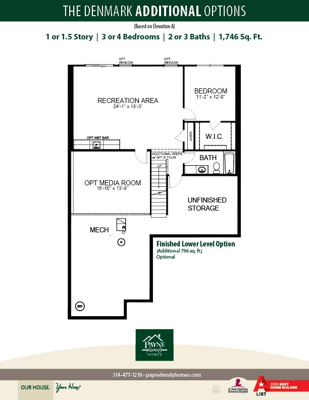 Denmark Plan At Legends Pointe In Lake Saint Louis Mo By Payne Family Homes Llc