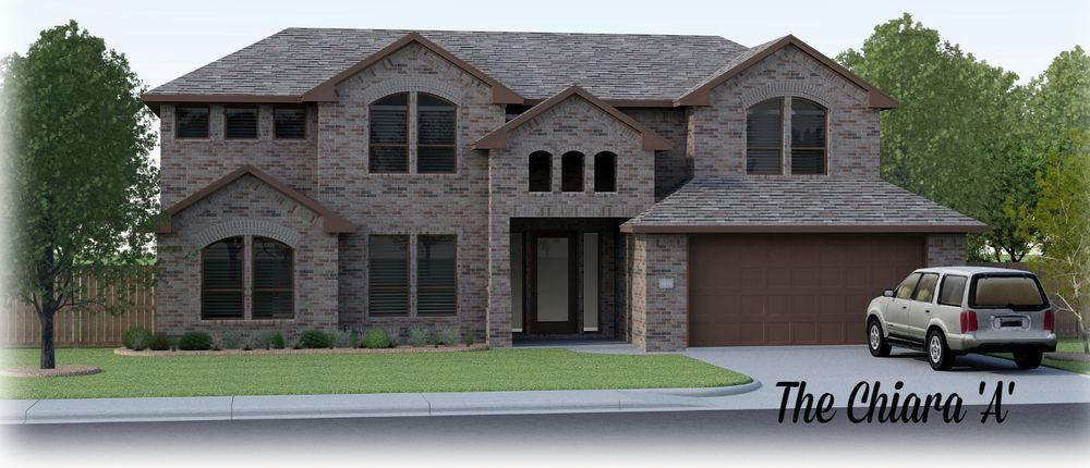 The Chiara by Permian Homes Two Story House Eyebrow Windows