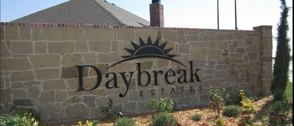 Daybreak Estates Entrance Permian Homes Midland