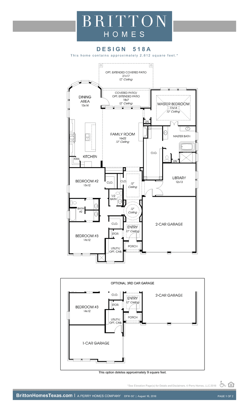 518A Home Plan by BRITTON HOMES in Windsong Ranch – Britton Homes Floor Plans