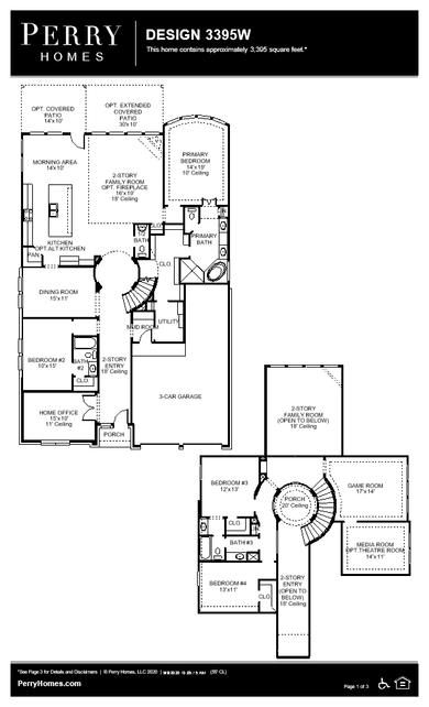 3395w plan at bridgeland 55' in cypress, texasperry homes