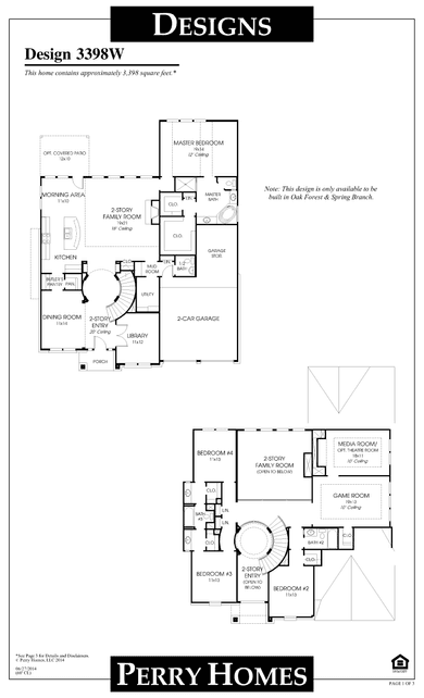 3398w plan at cypress creek lakes 60' in cypress, texasperry homes